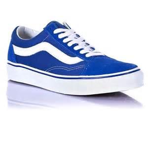 vans skool shoes classic blue true white free uk
