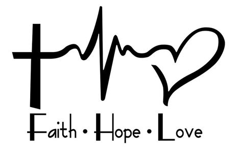 faith hope love laptop car vinyl window decal sticker 4
