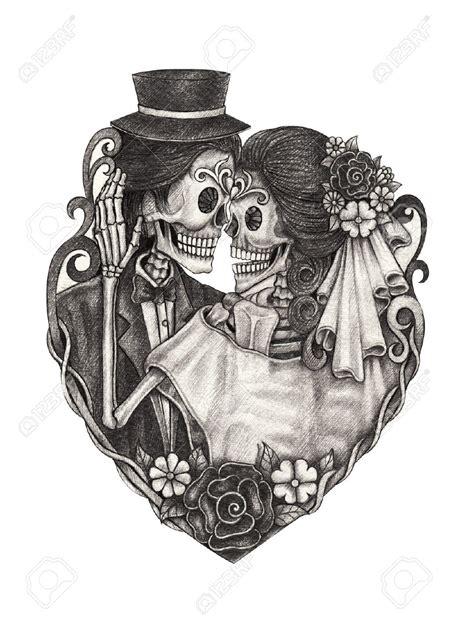 skull clipart wedding pencil   color skull clipart