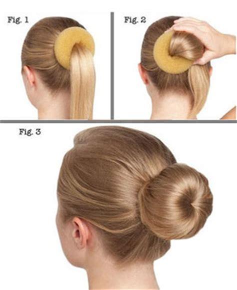different ways to use the bun maker как сделать пучок с помощью валика своими руками и пятью