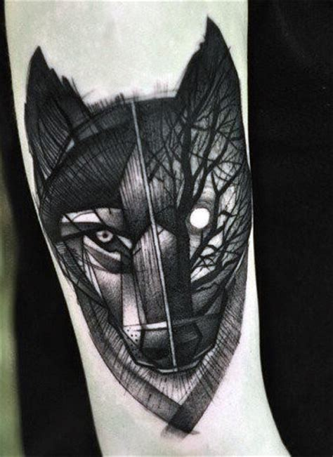 small wolf head tattoo 70 wolf designs for masculine idea inspiration