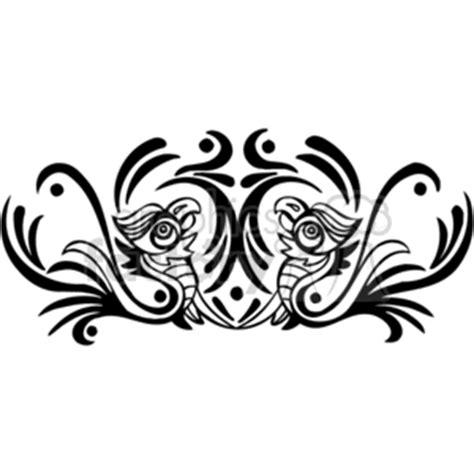 black  white art  phoenix rising clipart royalty