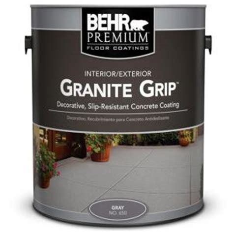 behr 1 gal 65001 gray granite grip interior exterior