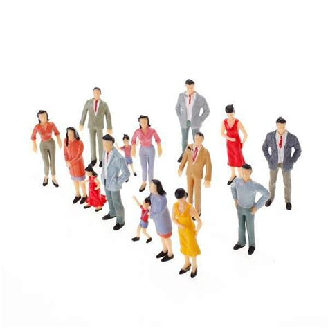 Painting 00 Scale Figures by 100pcs Painted Model Passenger Figures Scale