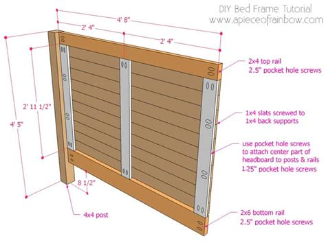 build a bed frame and headboard diy bed frame and wood headboard a of rainbow