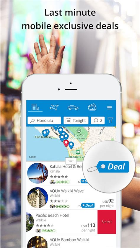 last minute travel deals booking hotels flights activities and car rental ios