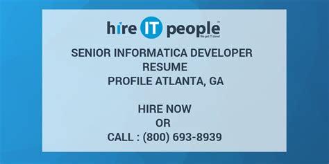 Sr Operational Analyst Salary With Mba Atlanta Ga by Informatica Developer Resume Resume Ideas
