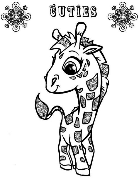cute giraffe coloring pages getcoloringpagescom