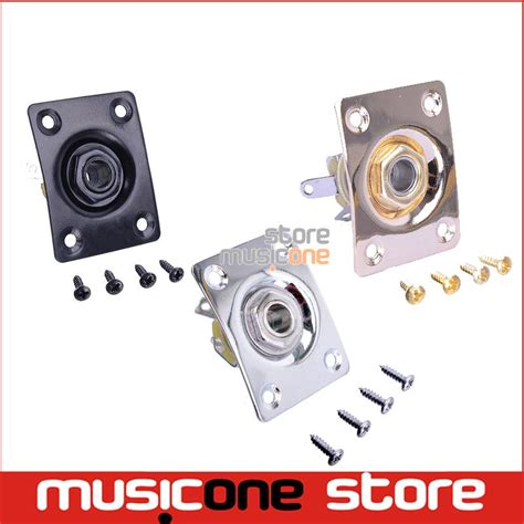 Gitar Bass Output Plate square style plate guitar bass 1 4 output input for lp sg tele electric guitar