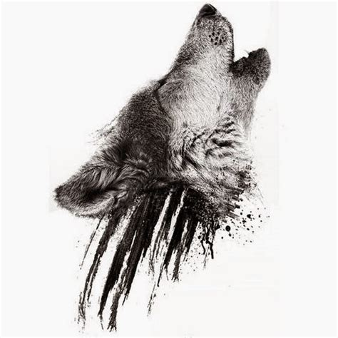 wolf head tattoo design dotwork simple wolf design stencil