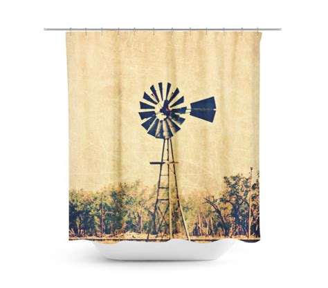 Rustic Decor Curtains Rustic Shower Curtain Windmill Photography Country