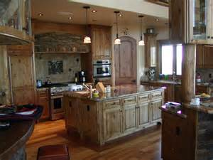 Custom Rustic Kitchen Cabinets Excellent Custom Made Rustic Alder Cabinets For Large Space Kitchen Furniture Sets As Well As
