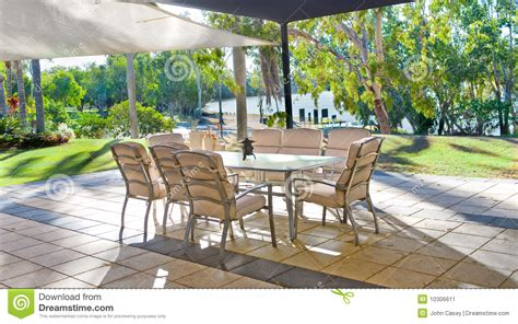 How To Set Up A Backyard by Tropical Backyard Garden Setting Stock Image Image 10306611