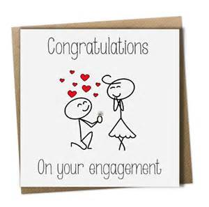 congratulations on your engagement card by greetingsunique