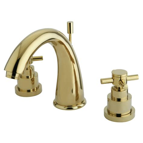 polished brass bathroom faucets widespread kingston brass ks2962ex widespread lavatory faucet 7 inch
