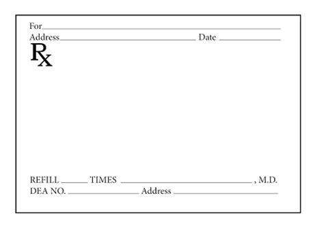 Prescription Pads Pharmacy Vials Prescription Pad Template
