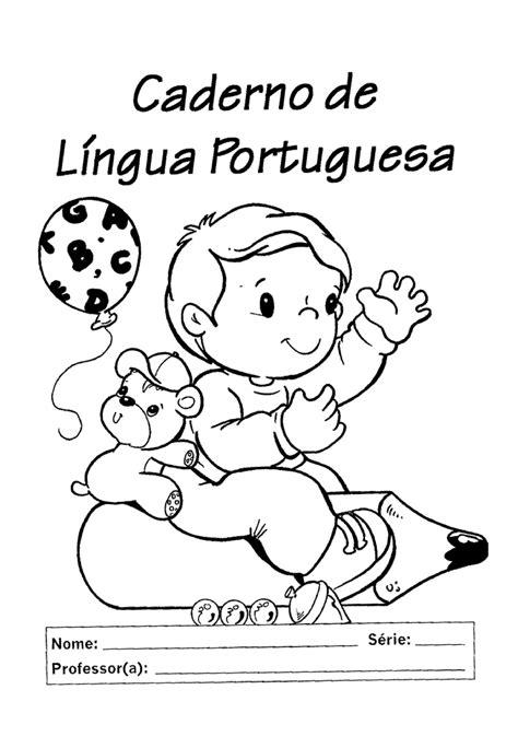capa de caderno de língua portuguesa | Capa de caderno