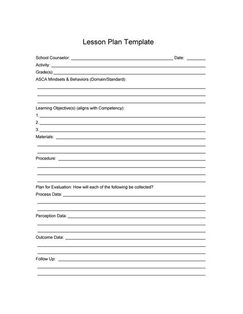 free lesson plan template word svptraining info