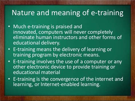 tutorial video meaning e training