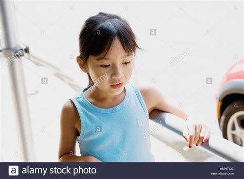 7 year old girl stock photo 7 year old chinese girl walking on new york city street