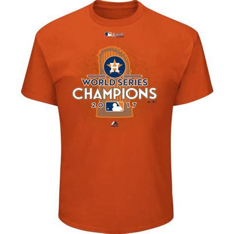Houston 01 Mens T Shirt majestic s astros world series chions locker room t