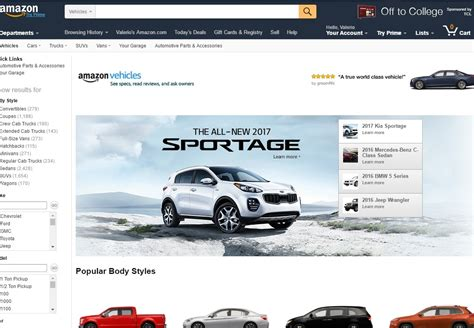 amazon adesso ha una vetrina per le automobili tom s