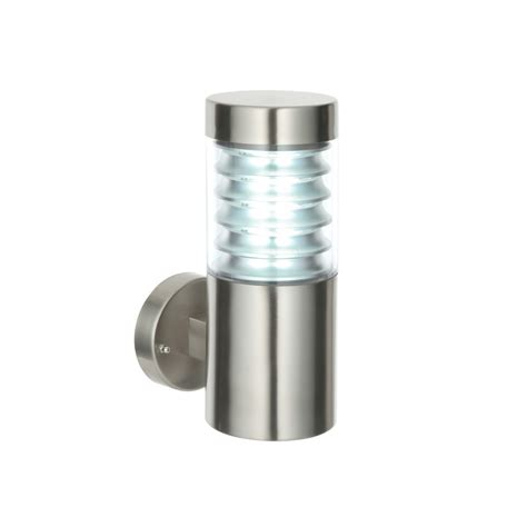 Stainless Steel Outdoor Lights Endon 49909 Equinox 1 Light Stainless Steel Outdoor Wall Light