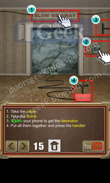 Doors Of Revenge Level 15 Solution | 100 doors of revenge level 15 doors geek