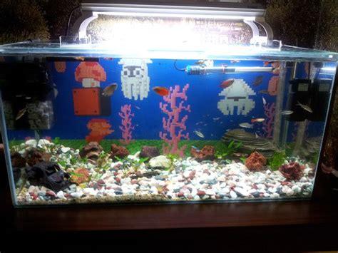 Mario Brothers Aquarium Decorations by Fish Tank Decorations Mario Not Bad Lego Mario