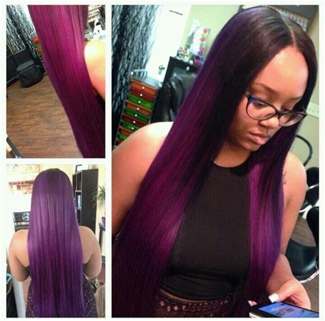 purple weave hairstyles 215 best hair color i will rock images on pinterest