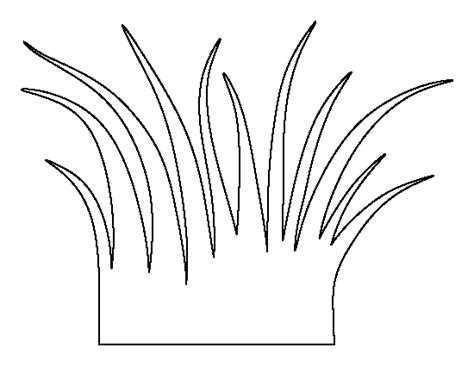 printable grass stencils grass pattern use the printable outline for crafts