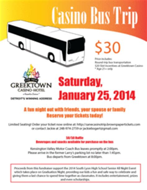 Casino Bus Trip Slhs Sane 2014 Fundraiser Casino Fundraiser Flyer Template