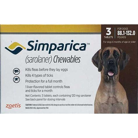 simparica for dogs simparica tabs 88 132 lbs brown 3 mo buy simparica for dogs