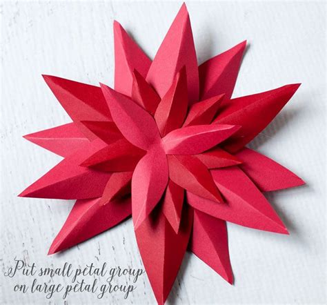 How To Make A Paper Poinsettia - how to make a paper poinsettia frog prince paperie