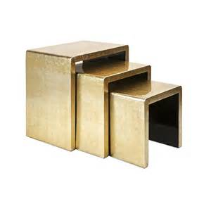Gold Nesting Tables by Gold Nesting Tables Bling Get In House
