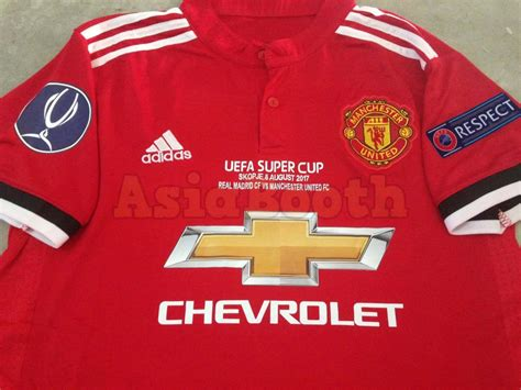 Jersey Manchester United Home Uefa Cup 2017 2018 2017 2018 Cup Manchester United Home Jersey Shirt