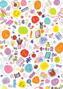 School Doodles Scrapbook Paper