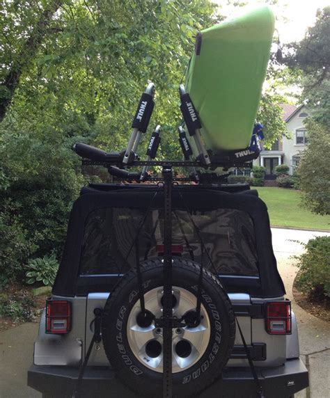 jeep kayak rack hitchmount rack with thule mounts jeep kayak racks