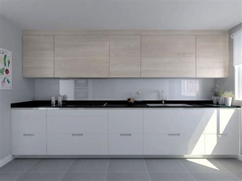 encimera granito negro cocina santos modelo minos laminado seda blanco y