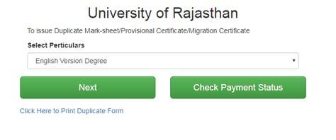 uniraj date sheet  rajasthan university time table