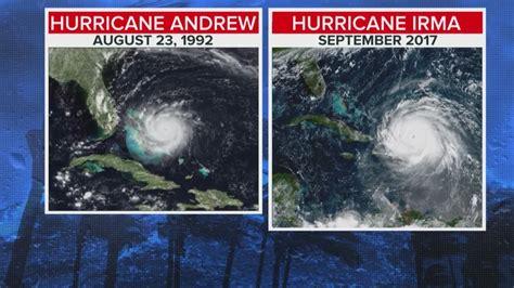 hurricane irma size irma v andrew the size of florida s worst