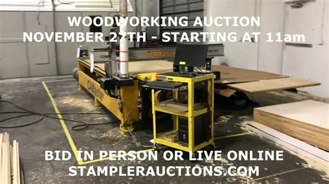 woodworking equipment auction nov  youtube