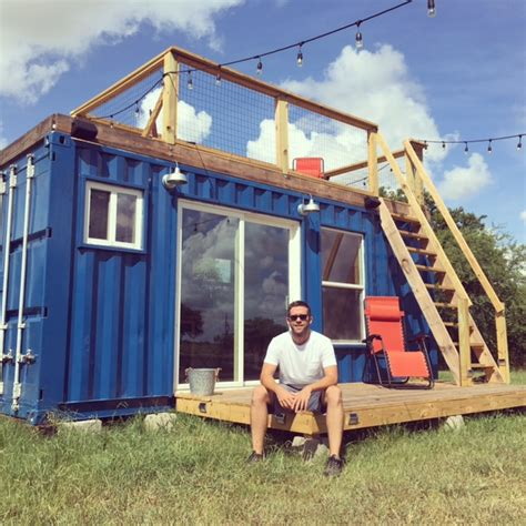 tiny container rustic retreat shipping container tiny house 29 9k