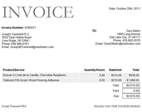 Free Microsoft Word Invoice Template Free Business Template Invoice Template For Microsoft Word