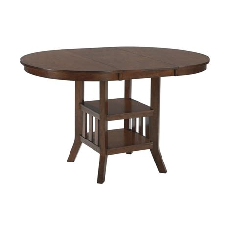 oval counter height dining table renaburg oval extendable counter height table in
