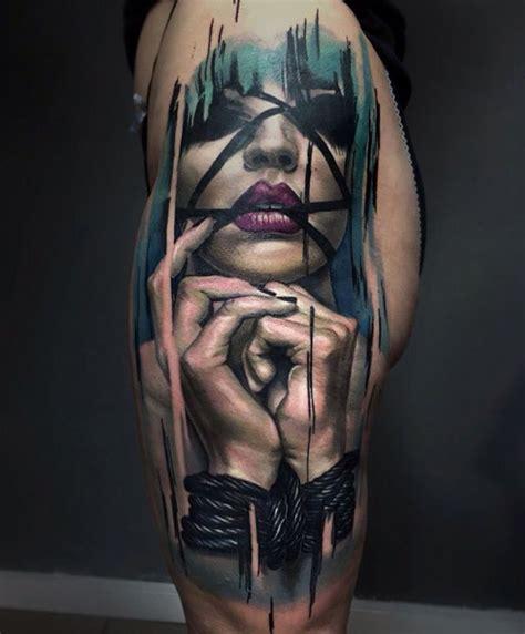 all tied up hip piece best tattoo design ideas