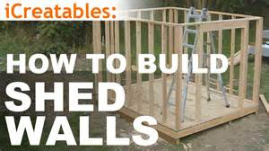 how to build a shed part 5 wall framing