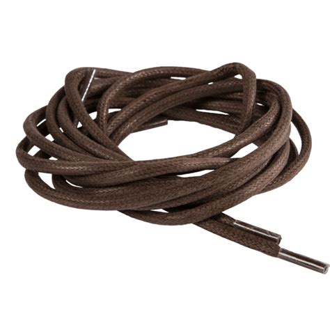 strong waxed brown thick shoelaces