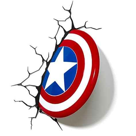 Shields Comes To The Rescue With Something by 3d Light Fx Captain America Shield 3d Deco Light