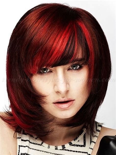 hairstyles for mid length red hair medium hairstyles for red hair hairstyles